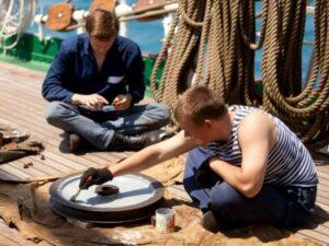 Первая работа для моряка